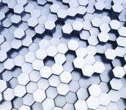 Abstract background. 3d abstract hexagonal cubes background Stock Photos