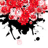 Abstract background. With stylized fowers Stock Photos