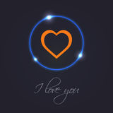 Abstract background. With special orange heart Royalty Free Stock Image