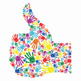 Abstract background. Abstract human hand giving ok Stock Image