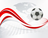 Abstract background. Abstract artistic background billboard sport football Stock Images