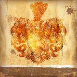 Abstract background. With coat of arms royalty free illustration