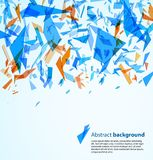 Abstract background. With blue and orange particles. Vector illustration Stock Images