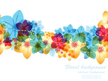 Abstract background. Vector illustration of abstract background with flowers Stock Images