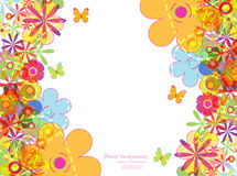 Abstract background. Vector illustration of abstract background with flower Stock Image