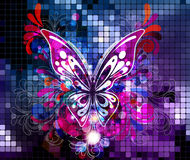 Abstract background. Vector illustration with butterfly Royalty Free Stock Image