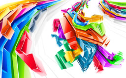 Abstract background. Vector illustration in style graffiti Royalty Free Stock Images