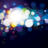 Abstract background. Abstract lighting background, bokeh blue Stock Image