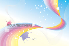 Abstract background. Abstract colorful rainbow background and color splash Stock Photo