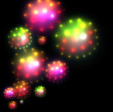 Abstract background. Colorful glittering star of light, vector Stock Photo