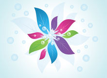 Abstract background. With colorful flower Royalty Free Illustration