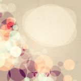 Abstract background. With many circles with grunge old effect, vector illustration Vector Illustration