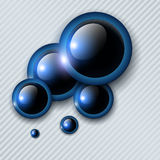 Abstract background. With blue shiny circles for text, vector illustration royalty free illustration