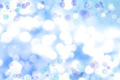 Abstract background. Soft focus circles. Blue abstract background Stock Images