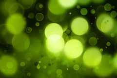 Abstract background. Abstract green glowing circles background Royalty Free Stock Images