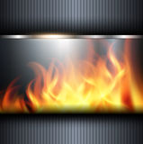 Abstract background. With vector fire flames Royalty Free Stock Photos