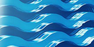 Abstract background. Abstract bacground blue waves, 3d Royalty Free Stock Photography