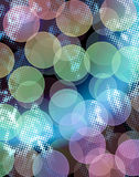 Abstract background. In bokeh style with halftone Royalty Free Stock Image