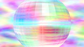 Abstract background. Squared sphere on colorful background Stock Image