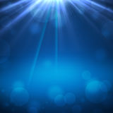 Abstract background. Blue abstract backgroung with beam and stars Royalty Free Stock Photography