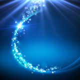 Abstract background. Blue abstract backgroung with beam and stars Royalty Free Stock Photos