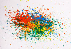 Abstract background. An abstract colorful background with paint blots and spatters Stock Photos