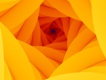 Abstract background. Abstract yellow-orange spiral background vector illustration
