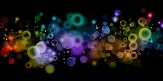 Abstract background. Abstract color blurs on dark background Stock Photo