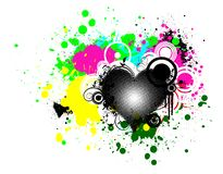 Abstract background. With halftone heart and splash on background Stock Photo