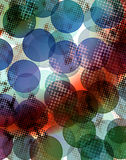Abstract background. In bokeh style with halftone Royalty Free Stock Photo