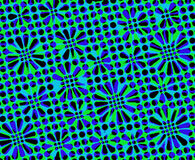 Abstract background. In pattern of flower with blue and green tone Stock Illustration