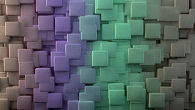 Abstract background. 3d abstract background. Cubes and degraded extrusion royalty free illustration