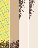 Abstract background 3. Abstract vertical backgrounds with coffee beans and different colored backdrops Royalty Free Stock Image