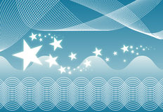 Abstract Background. Abstract Waves and Stars Background stock illustration