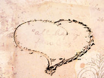 Abstract Background. With a heart which was made in the sand on a beach Royalty Free Stock Images