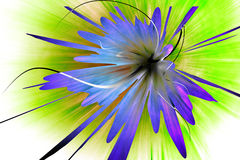 Abstract background. An abstract blue flower on green background Royalty Free Stock Image