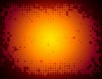 Abstract halftone background. An abstract background with yellow, orange and red colors and border Stock Photos