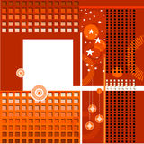 Abstract background. With christmas balls and stars Royalty Free Illustration