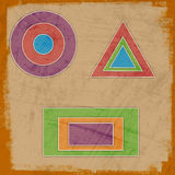 Abstract background. With geometric elements Stock Photos