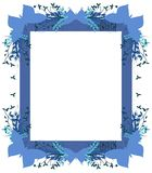 Abstract frame isolated with butterflies. Background created with butterflies and floral elements, ideal, for example, for greeting card Stock Photography