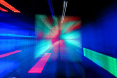 Abstract Background. With high tech multicolor lights vector illustration