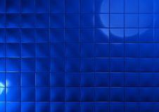 Abstract background of 3d blocks. Blue cubes Stock Photos