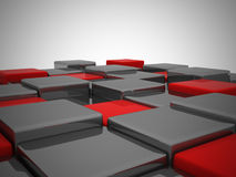 Abstract background of 3d blocks. Stock Images