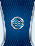 Abstract background with 3d button Stock Photo