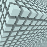 Abstract background with 3d cubes. 3d rendering Royalty Free Stock Photography