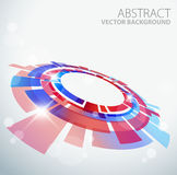 Abstract background with 3D red and blue object. And place for your text Royalty Free Stock Image