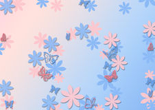 Abstract Background. With butterflies and flowers. presentation illustration royalty free illustration
