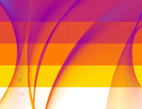 Abstract background. Abstract 5 banners, stylized waves, place for text Royalty Free Illustration
