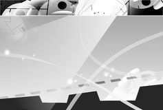 Abstract background. Hi-tech illustration, monochrome, can be used for many purposes vector illustration