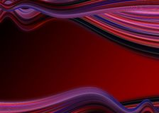 Abstract background. Abstract wavy red background Royalty Free Stock Images